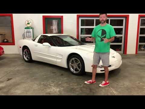 2004-chevrolet-corvette,-extremely-low-23k-miles,-auto,-white-w/red-interior,-$18900