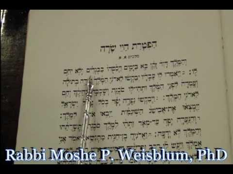 Haftorah Reading Chayei Sara Rabbi Weisblum קריאת הפטרה הפטרת חיי שרה הרב ויסבלום