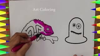 Chameleon For Kids | Animals For Kids | How To Draw Animals | Art For Kids | Wild Animal | Baby Draw