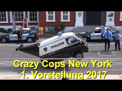 Movie Park Germany Crazy Cops New York 2017 - The Action Stunt Show - Saison Start 31.03.2017