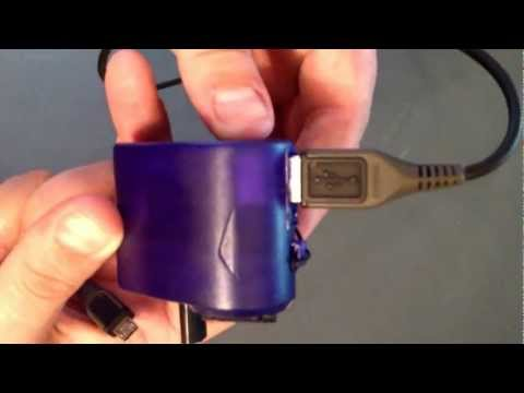 Diy hand crank cell phone charger