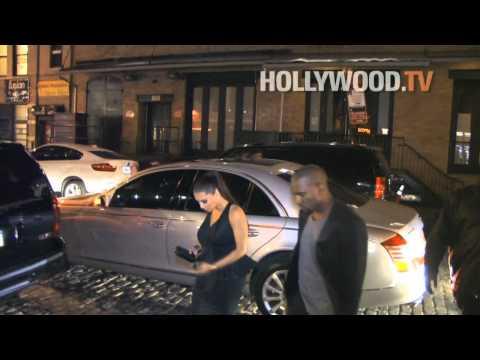 Kim Kardashian, Kanye West, Malin Akerman at Giant Mechanical Man after party