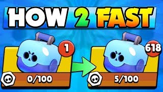 HOW TO GET BRAWL BOXES & LEVEL UP FAST IN BRAWL STARS!