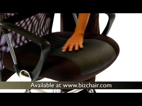 Biz Chair Com Turquoise Accent High Back Split Leather Office With Black Mesh Bt 905 Gg Bizchair