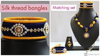 How to reuse old bangles at home / colorful silk thread bangles