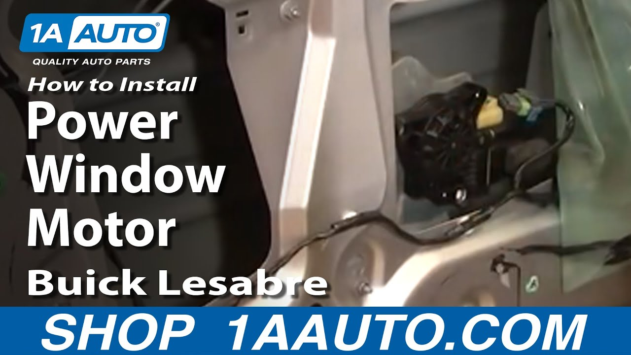 How To Install Repair Replace Power Window Motor Buick Lesabre 00 05 1AAuto