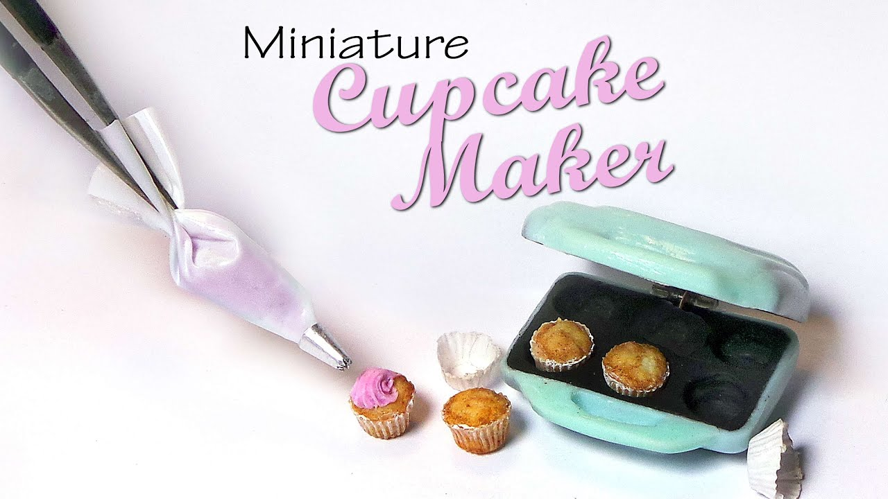 Cute Miniature Cupcake Maker Polymer Clay Tutorial Youtube