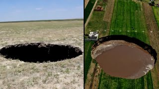 17-Year-Old Discovers and Nearly Falls Into Massive Sinkhole