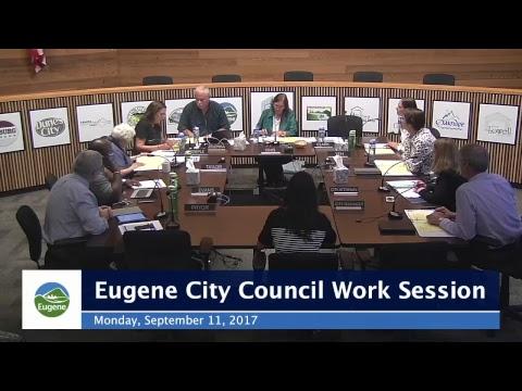 Eugene City Council Work Session: September 11, 2017