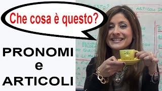 Lezioni di Italiano Gratis - One World Italiano Video Corso - Lezione 7