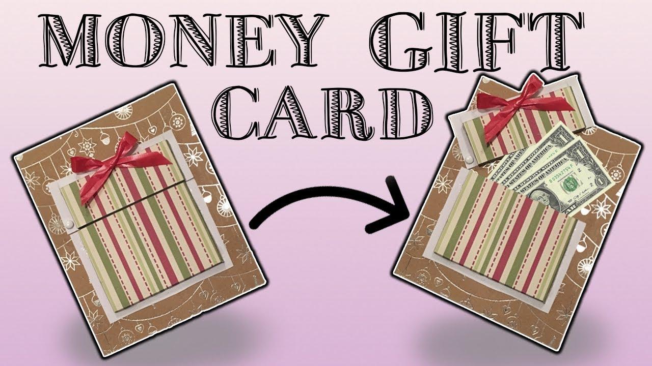 Money Gift Card W Stencil 2 Easy Ways Diy Youtube
