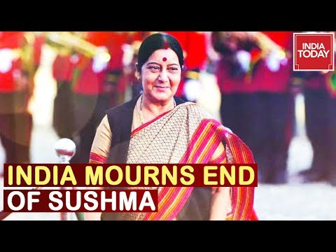India Mourns Demise Of Sushma Swaraj's End, India's 1st Full Time Woman Foreign Minister