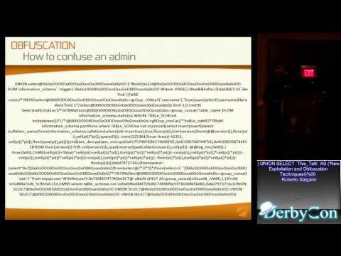 DerbyCon 2013 ') UNION SELECT `This_Talk`...
