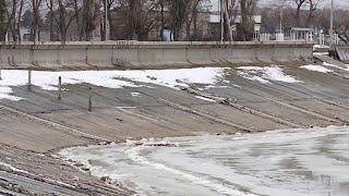 Вода прибывает краснодарское море наполняется после снежной зимы