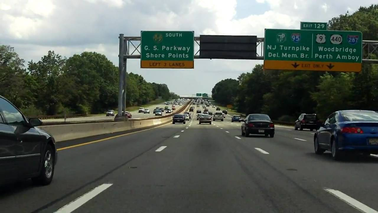 Garden state parkway exits 135 to 129 southbound youtube for Watch garden state online free
