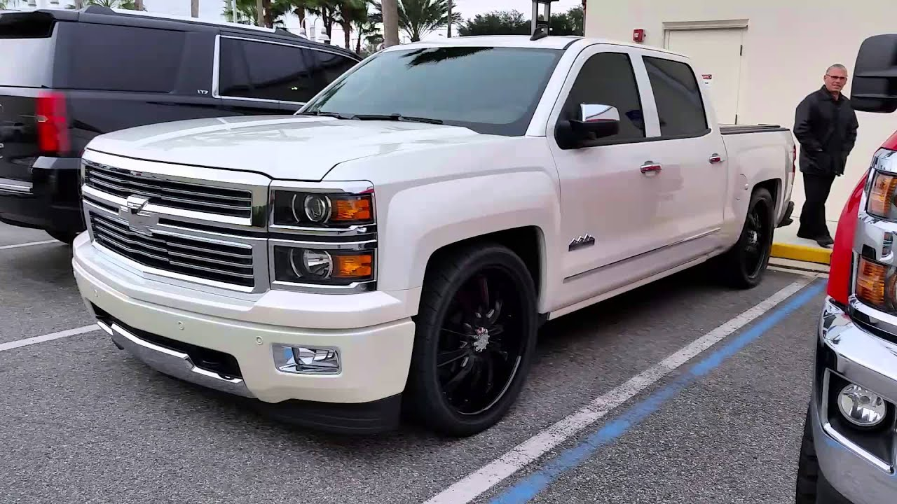 Lowered Chevy Silverado High Country low rider - YouTube