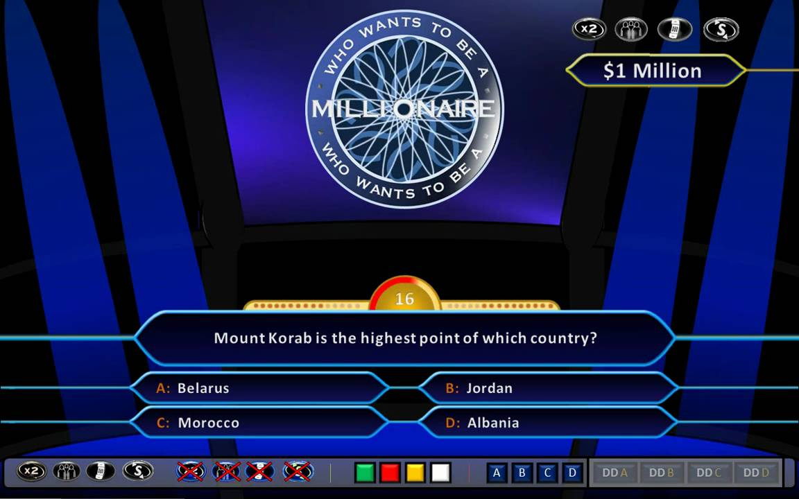 Who wants to be a millionaire demonstration hd ppt 2010 for Who wants to be a millionaire blank template powerpoint