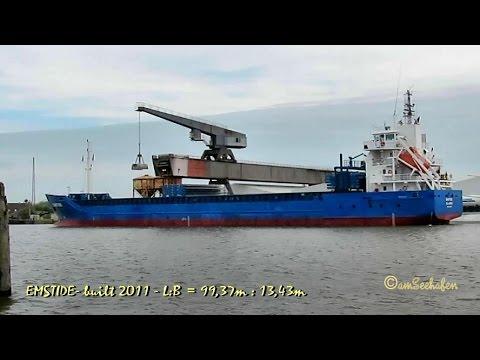 EMSTIDE V2FR5 IMO 9552068 Emden coaster cargo seaship merchant vessel Seeschiff KüMo