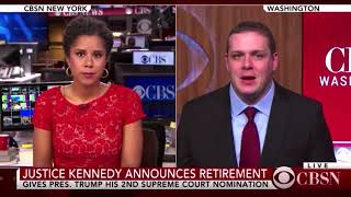 Guest on CBSN to discuss Justice Kennedy's retirement