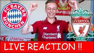 LIVE REACTION!! Bayern Munich 1-3 Liverpool !!!!