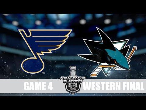Blues VS Sharks Game 4 Сент Луис Сан Хосе Плей-офф, 1/4 финала, Обзор матча