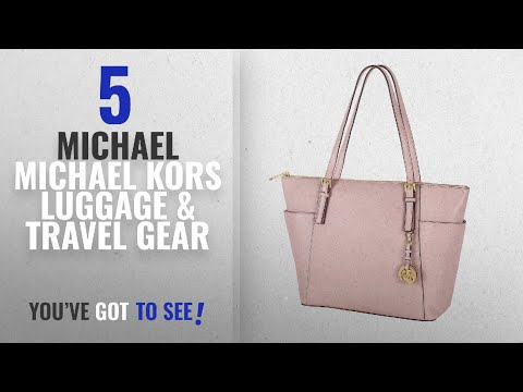 Top 10 Michael Michael Kors Luggage & Travel Gear [2018]: MICHAEL Michael Kors Jet Set Top-Zip Tote