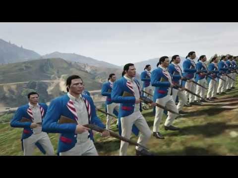 GTA V - American Revolutionary War Line Battle Script