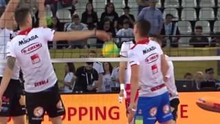 29-04-2017: #clf4rome - Palleggi pre semifinale per Perugia e Civitanova