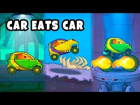 Хищная Тачка СМАРТИ в Машина Ест Машину 4 и в прошлых Частях игры Car Eats Car 1 2 3