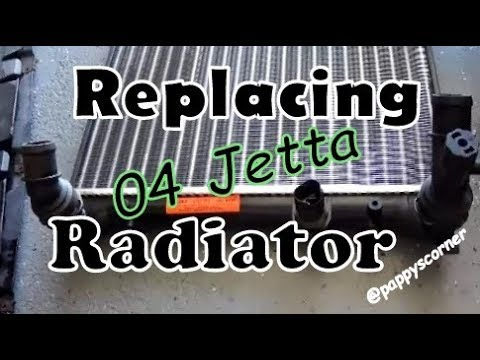 Replace Radiator 2004 VW Jetta