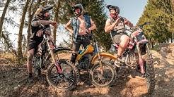 Eigene PITBIKE Strecke im Garten testen - Mountainbike Mini-Bikepark Umbau Teil 2 | Fabio Schäfer