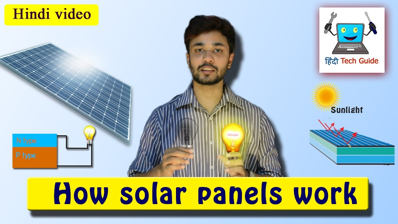 How Solar Panel Work In Hindi Youtube Simple Power Diagram Energy