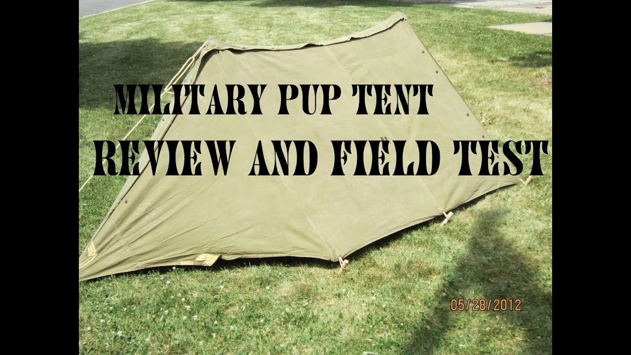 & Military Pup Tent Overnight Test - YouTube