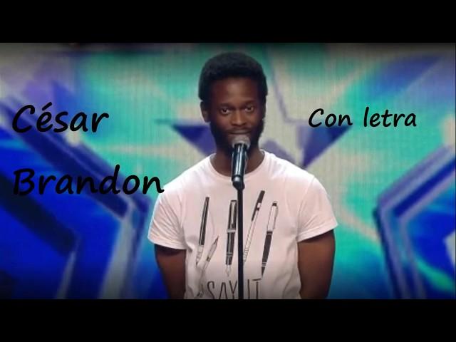Poesía de César Brandon.  SEMIFINALES del concurso GOT TALENT. Callejeandopoesía.