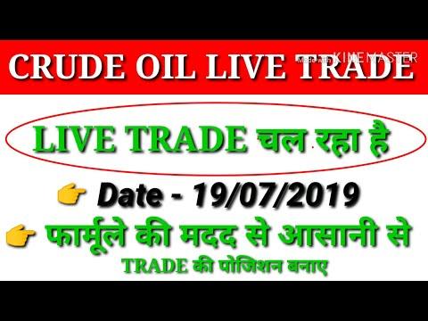 CRUDE OIL LIVE TRADE चल रहा है