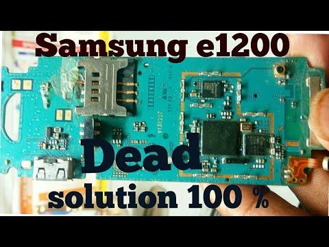 SAMSUNG E 1200 dead solution