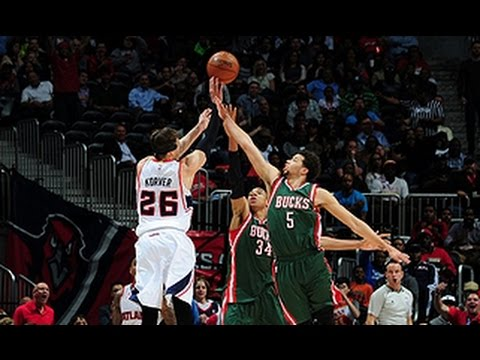 kyle korver s 11 points in one minute scorches bucks youtube