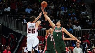 Kyle Korver's 11 points in One Minute Scorches Bucks