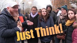 Just Think! Hamza Vs Christian Girls | Old Is Gold | Speakers Corner