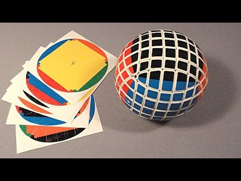 Unspeeded Up Stickering Of 7x7x7 Ball (puzzle By Tony Fisher)