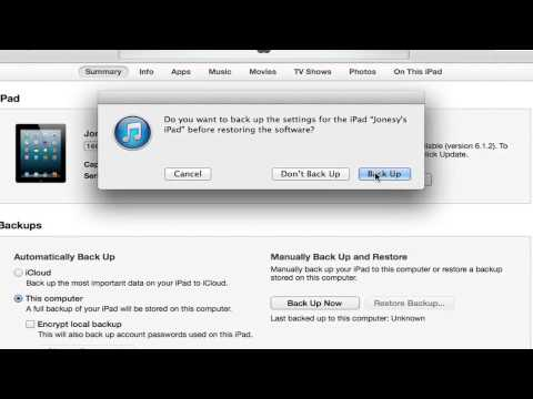 """What Happens to an iPad When You Hit """"Restore"""" on iTunes? : iPad Tips & More"""