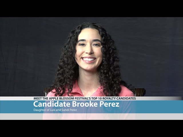 Apple Blossom Candidate Brooke Perez