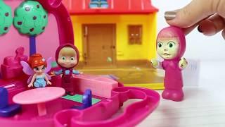 Masha Ve Arkadaşı Winks Yeni Oyun Evinde Oyun Oynuyor Eğlenceli Çizgi Film
