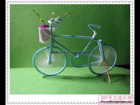 Смотреть Велосипед из трубочек для коктейлей. Фото мастер-класс.