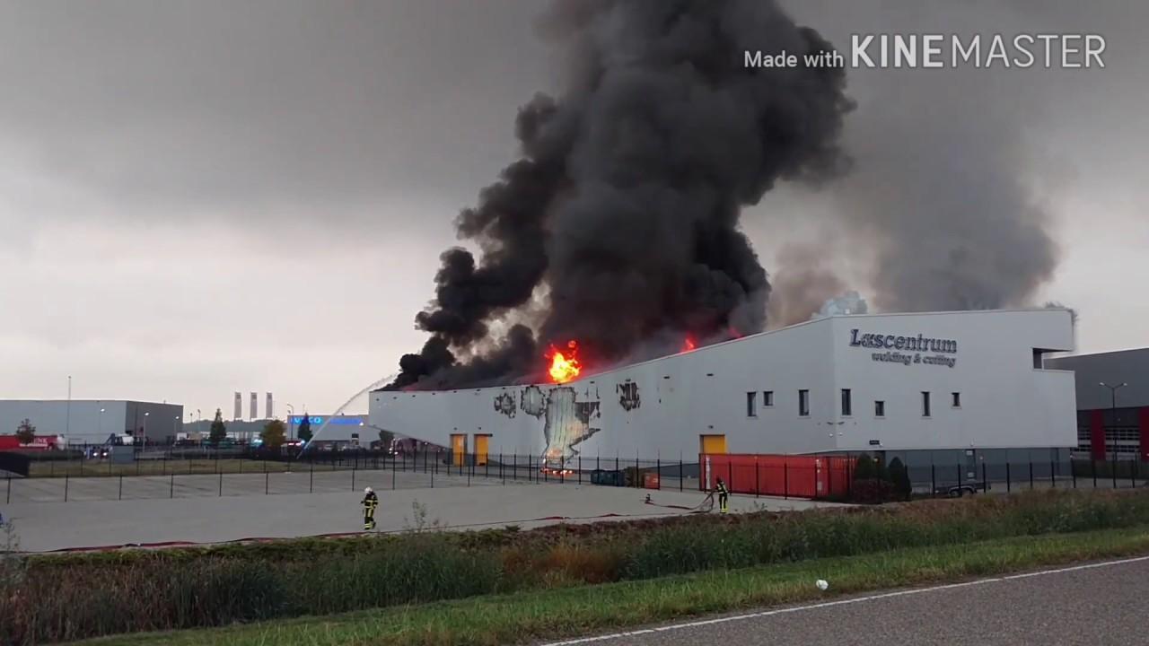 Zeer Grote Brand Lascentrum Alblasserdam Youtube