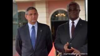 S.Tomé - Palácio do Povo - Presidente Jorge Carlos Fonseca com Pinto da Costa
