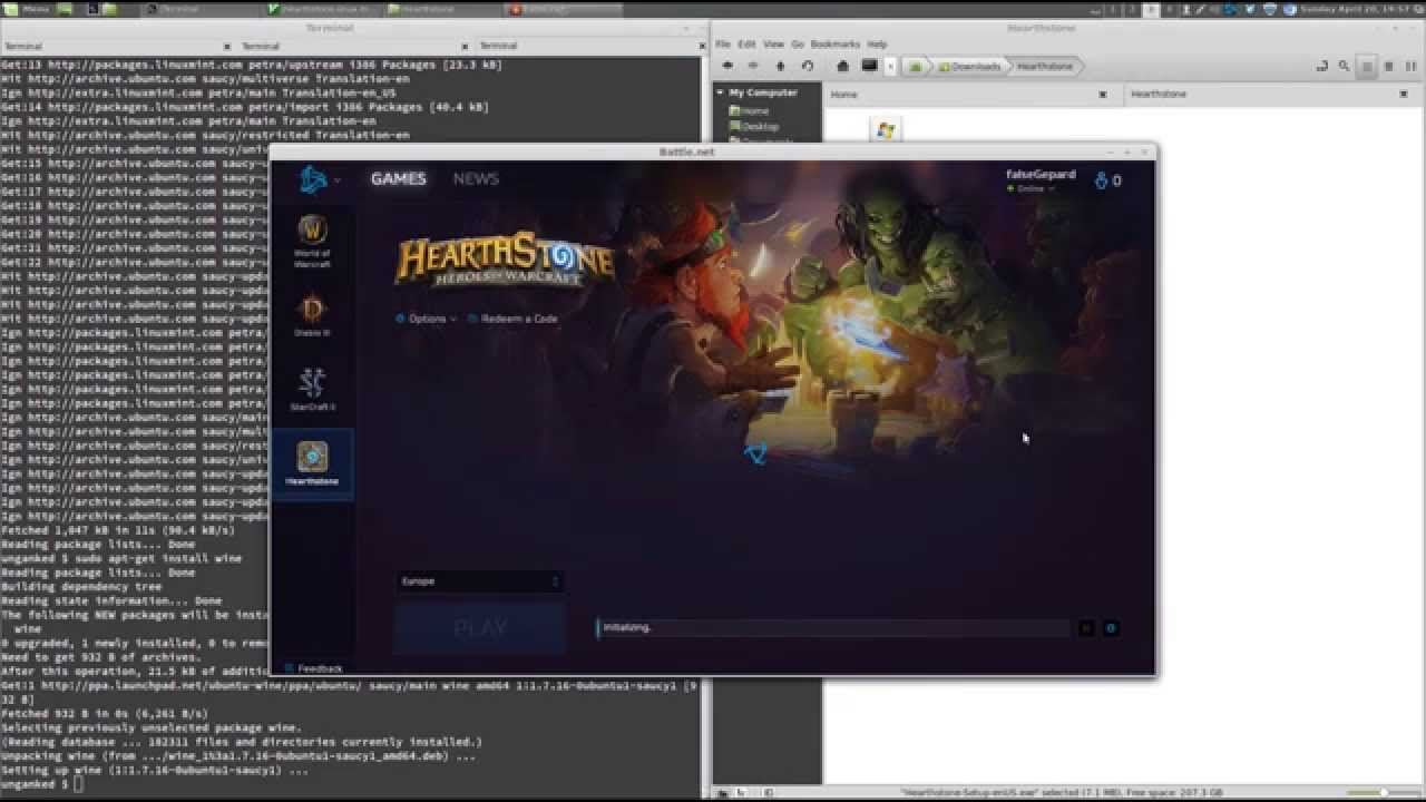 Tutorial: Installing Hearthstone on Ubuntu / Linux Mint / Debian