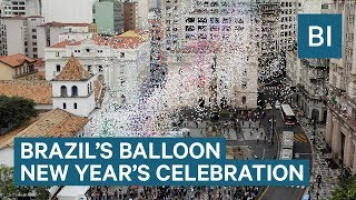 Watch São Paulo, Brazil Release Thousands Of Balloons To Celebrate The New Year