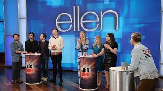 "Ellen tested ""The Big Bang Theory"" cast's knowledge of general triv..."