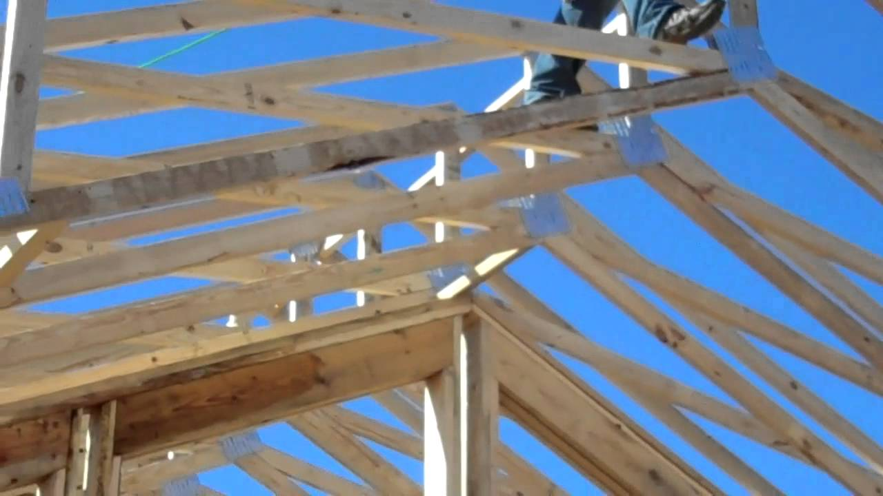 11 17 11 bracing trusses youtube for Where to buy trusses